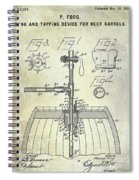 1902 Beer Tapping Device Patent Spiral Notebook