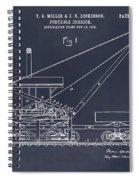 1903 Railroad Derrick Blackboard Patent Print Spiral Notebook