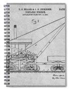 1903 Railroad Derrick Gray Patent Print Spiral Notebook