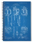 1904 Wagner Tattoo Machine Blueprint Patent Print Spiral Notebook