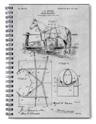 1905 Horse Blanket Patent Print Gray Spiral Notebook