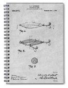 1909 Lockhart Antique Fishing Lure Gray Patent Print Spiral Notebook