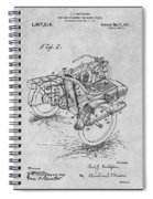 1913 Side Car Attachment For Motorcycle Gray Patent Print Spiral Notebook