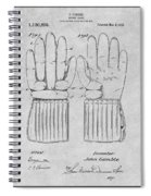 1914 Hockey Gloves Gray Patent Print Spiral Notebook