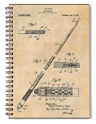 1917 Billiard Pool Cue Antique Paper Patent Print Spiral Notebook