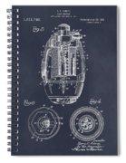 1917 Hand Grenade Blackboard Patent Print Spiral Notebook