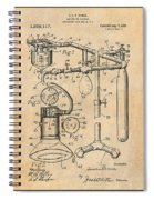1919 Anesthetic Machine Antique Paper Patent Print Spiral Notebook