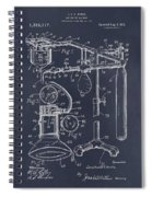1919 Anesthetic Machine Blackboard Patent Print Spiral Notebook
