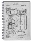 1919 Anesthetic Machine Gray Patent Print Spiral Notebook
