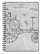 1919 Antique Tractor Gray Patent Print Spiral Notebook