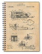 1919 Motor Driven Hair Clipper Antique Paper Patent Print Spiral Notebook