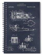 1919 Motor Driven Hair Clipper Blackboard Patent Print Spiral Notebook