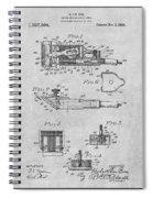 1919 Motor Driven Hair Clipper Gray Patent Print Spiral Notebook
