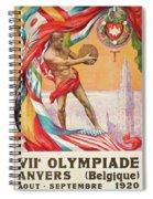 1920 Summer Olympics Vintage Poster Spiral Notebook