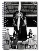 1920s 1930s Group Of Passengers Waiting Spiral Notebook