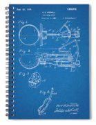1924 Ice Cream Scoop Blueprint Patent Print Spiral Notebook
