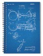 1924 Ice Cream Scoop Blueprint Patent Print Spiral Notebook