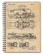 1925 Turbine Driven Locomotive Antique Paper Patent Print  Spiral Notebook