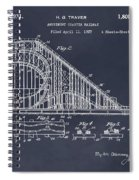 1927 Roller Coaster Blackboard Patent Print Spiral Notebook