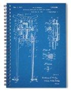 1929 Harley Davidson Front Fork Blueprint Patent Print Spiral Notebook