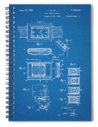 1930 Leon Hatot Self Winding Watch Patent Print Bluebrint Spiral Notebook