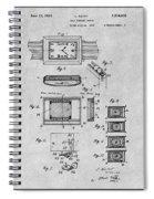 1930 Leon Hatot Self Winding Watch Patent Print Gray Spiral Notebook