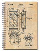 1931 Self Winding Watch Patent Print Antique Paper Spiral Notebook