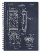 1931 Self Winding Watch Patent Print Blackboard Spiral Notebook