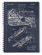 1932 Earth Moving Bulldozer Blackboard Patent Print Spiral Notebook