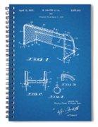 1933 Soccer Goal Blueprint Patent Print Spiral Notebook