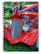 1934 Ford 3 Window Coupe Hot Rod Spiral Notebook