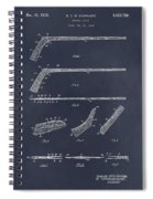 1934 Hockey Stick Patent Print Blackboard Spiral Notebook
