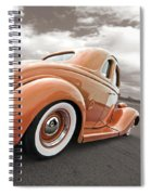1935 Ford Coupe In Bronze Spiral Notebook
