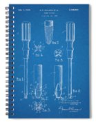 1935 Phillips Screw Driver Blueprint Patent Print Spiral Notebook