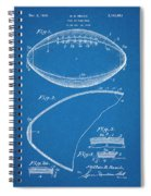 1936 Reach Football Blueprint Patent Print Spiral Notebook