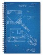 1937 Backhoe Excavator Blueprint Patent Print Spiral Notebook