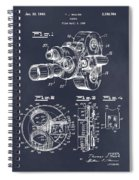 1938 Bell And Howell Movie Camera Patent Print Blackboard Spiral Notebook