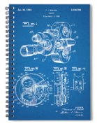1938 Bell And Howell Movie Camera Patent Print Blueprint Spiral Notebook