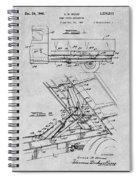 1939 Dump Truck Gray Patent Print Spiral Notebook