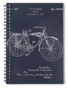 1939 Schwinn Bicycle Blackboard Patent Print Spiral Notebook