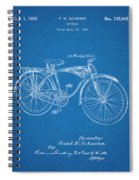 1939 Schwinn Bicycle Blueprint Patent Print Spiral Notebook