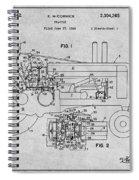 1942 John Deere Tractor Gray Patent Print Spiral Notebook