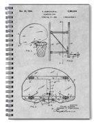 1944 Basketball Goal Gray Patent Print Spiral Notebook