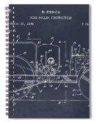 1946 Road Roller Blackboar Patent Print Spiral Notebook