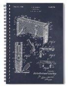 1947 Hockey Goal Patent Print Blackboard Spiral Notebook