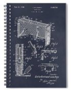 1947 Hockey Goal Patent Print Blackboard Spiral Notebook