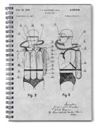 1947 Jacques Cousteau Diving Suit Patent Print Gray Spiral Notebook
