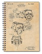 1952 3 Three Wheel Motorcycle Antique Paper Patent Print Spiral Notebook