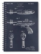 1953 Ray Gun Toy Pistol Blackboard Patent Print Spiral Notebook
