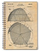 1954 Geodesic Dome Antique Paper Patent Print Spiral Notebook